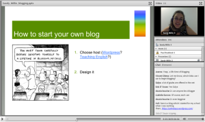 Sandy's blogging webinar