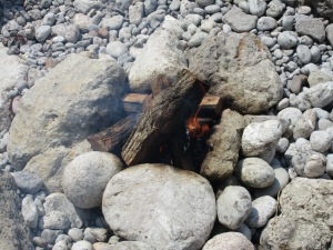 Campfire on Inger beach, near Balaklava