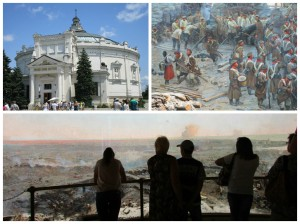 Panorama building and bits of the Crimean War painting inside