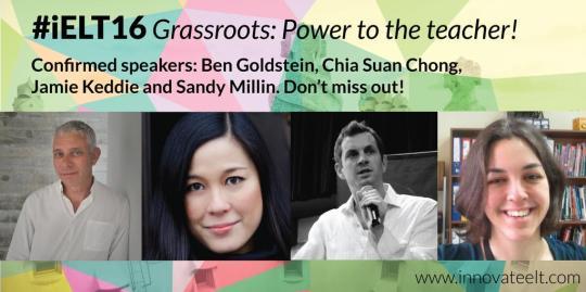 InnovateELT conference confirmed speakers: Ben Goldstein, Chia Suan Chong, Jamie Keddie and Sandy Millin