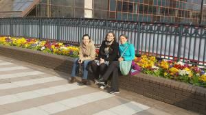 Monika, Sandy and Lizzie