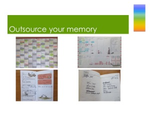Pictures of wall planner, weekly planner and diaries