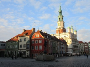 Poznan - town hall and herring houses