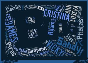 Teaching English Associates names word cloud