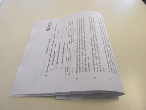 Folding piles of worksheets 1