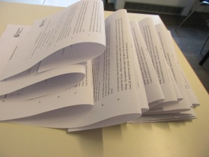 Folding piles of worksheets 2