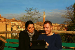 Anna and Mike in Siena