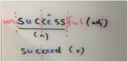 Word formation example