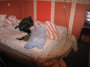 My room in Blue House 2, Punta Arenas (burnt down 36 hours after I left) :(
