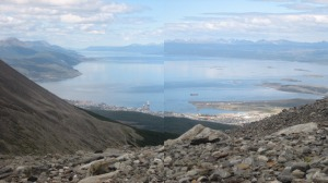 View of the Magellan Straits (with slightly bad photostitching!)
