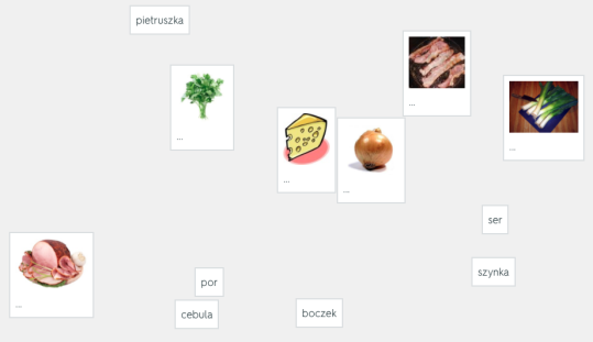Pizza po polsku - a screenshot from our Quizlet set