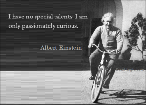 Albert Einstein on a bike: 'I have no special talents. I am only passionately curious.""