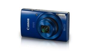 Blue Canon IXUS camera