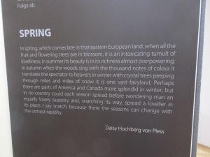 Daisy Hochberg von Pless description of spring