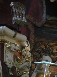 Swidnica Peace Church pulpit hourglasses