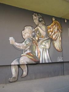 Bach Festival mural in Swidnica