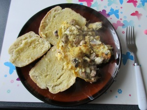 My best bread with scrambled egg