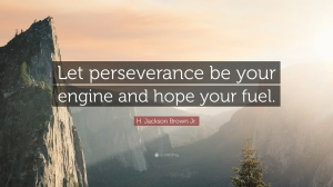 Let perseverance be your engine and hope your fuel