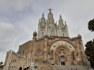 The cathedral on Mount Tibidabo in Barcelona